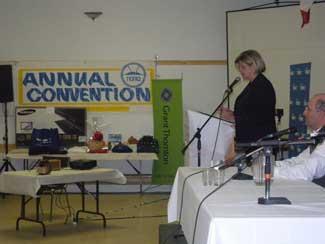 Andrea Horwath at NOMA meeting in Marathon