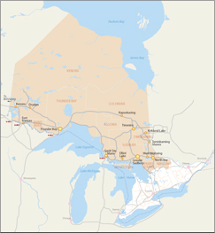 Northern Growth Plan area map