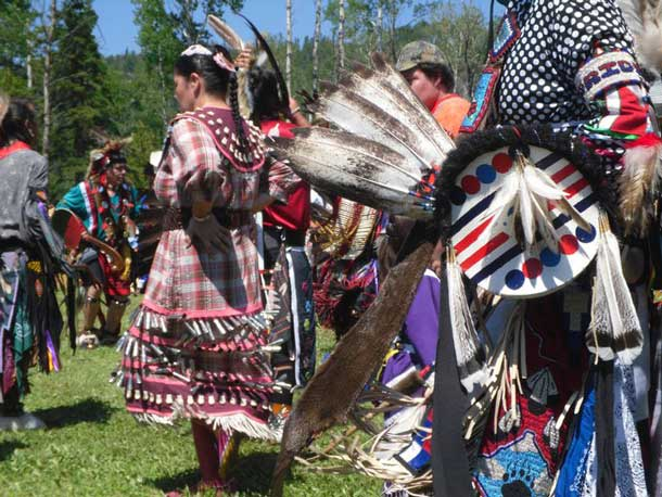 Colourful Regalia tells which tribe and which clan the dancer is from.
