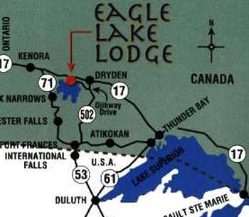 Map to Eagle Lake Lodge