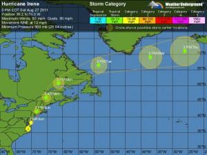 Five Day Forecast Hurricane Irene