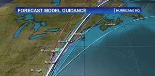 Hurricane Irene Tracking Map