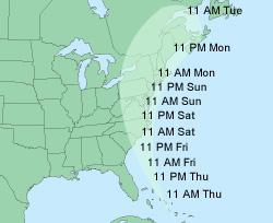 Hurricane Map Irene