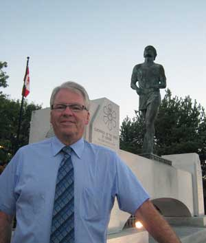 Bruce Hyer, at the Terry Fox Monument